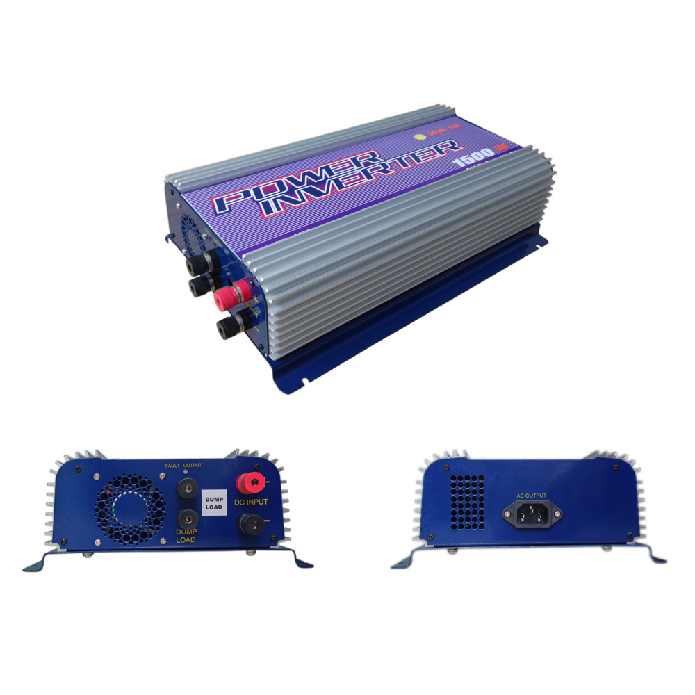 Y Solar 1500w Pure Sine Wave Grid Tie Inverter For 3 Phase Wind Turbine Dumpload Charge Controller The Lcd Display Will Ac Voltage Current Active Power And Electric Henergyh That Hcombinedh Htoh Htheh Hgridh